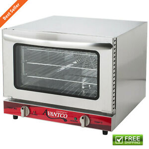 Commercial Electric Quarter Size Convection Oven Countertop Restaurant Equipment