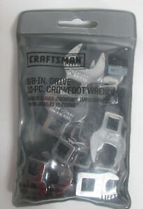 Craftsman 10 Pc 3 8 Drive Metric Mm Crowfoot Wrench Set 10mm 19mm 4363