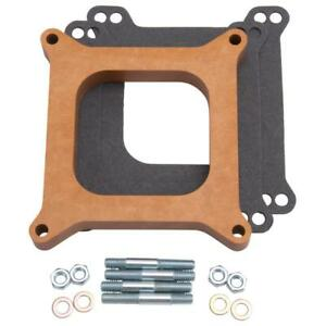 Edelbrock Carburetor Spacer 8719 Square Bore 4150 3 4 Open Wood