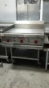 Used 36 Magikitch n Natural Gas Griddle With Equipment Stand