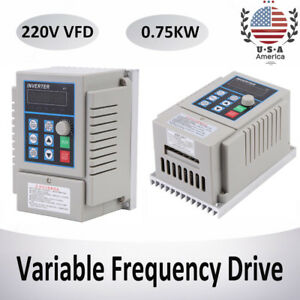 220v 1hp 0 75kw Single Phase To 3 three Phase Output Frequency Converter Vfd Vsd