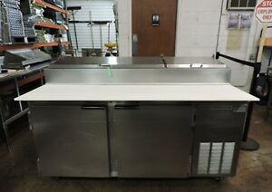 Beverage Air Dpd67 Commercial Refrigerated Deli Pizza Prep Table