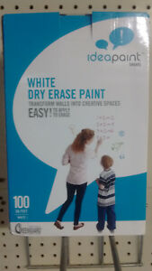 Idea Dry Erase Marker Board Paint clear 100 Sq Ft