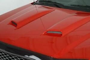 2001 2005 Ford Ranger Edge Medium Painted Hood Scoops 2 pc Smooth Style