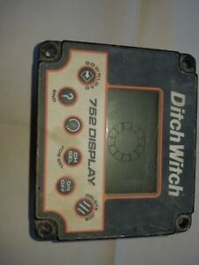 Ditch Witch 752 Display