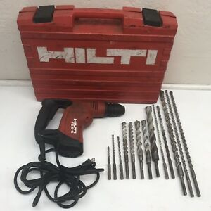 Hilti Te 6 s Rotary Hammer Drill With 13 Bits Case