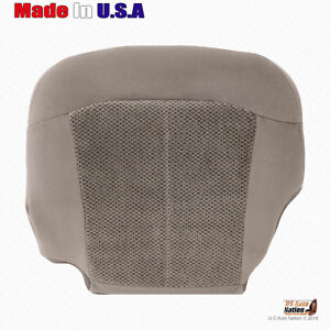 1999 2000 Chevy Silverado 1500 2500 Front Driver Bottom tan Cloth Seat Cover