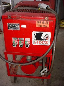 30 Kw Sioux Electric Hot Water Pressure Washer 460 Volt 1200 Psi 50 Hose