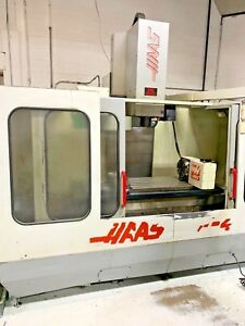 Haas 4th Axis Cnc Vf 4 Machining Center X 50 12 Hrt 310 Rotary Table