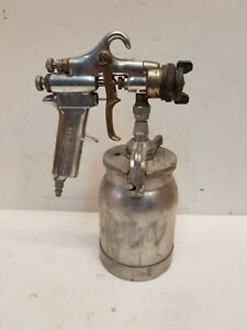 Devilbiss Type Mbc Paint Spray Gun W 30 Tip Snap On Bf503 Siphon Cup