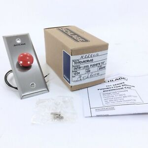 Schlage 701rdxmomxns 7 8 Pushbutton Switch Mushroom Cap Red