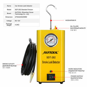 Autool Sdt 202 Smoke Machine Diagnostic Emissions Vacuum Leak Detection Tester