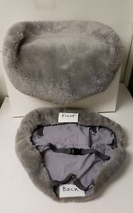 Bmw Tailormade Sheepskin Seat Cushion Cover X3 e83 1 Pair gray Color