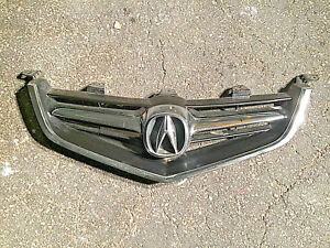 04 05 Acura Tsx Front Bumper Upper Grille W Emblem Grill Oem 2004 2005