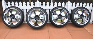 Ilan 22 In Black And Chrome Rims Tires 265 40 22 Bolt Pattern 5x114 3mm 5x4 5
