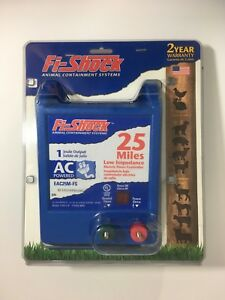 Fi shock Eac25m fs Low Impedence 25 Mile Ac Power Electric Fence Controller New
