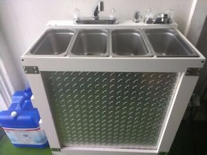 Portable Concession Sink 3 Compartment Sink Hand Sink Electric Hot Water
