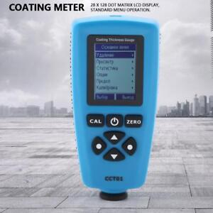 Bside Cct01 Digital Lcd Paint Coating Thickness Gauge Tester F nf Probe Sps