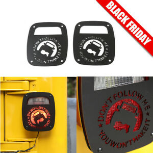 2 Aluminum Tail Light Guards Cover Fit Jeep Wrangler Tj Lj 1997 2006 Accessories