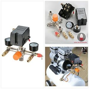 Horizontal Air Compressor Pressure Switch Valve Auto Control Cut Off 120 Turn On