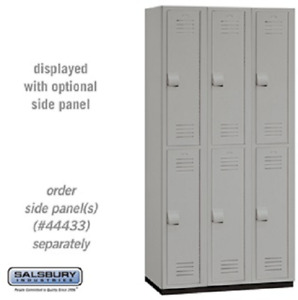Plastic Lockers Heavy Duty Double Tier 3 Wide 6 Feet High 18 Inches Deep