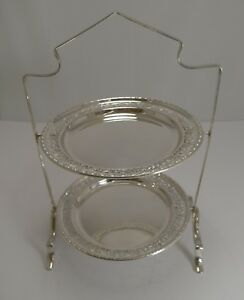 Antique English Silver Plated Cake Stand C 1900