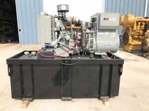 __30 Kw Mtu Generator Set 210 Gallon Base Fuel Tank 12 Lead Reconnectable