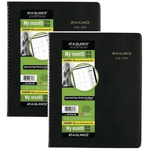 At a glance Academic Monthly Planner July 2018 December 2019 8 7 8 X 11 L