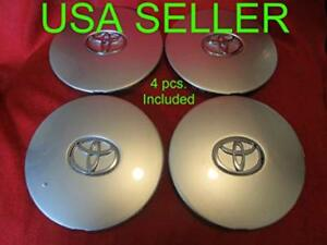4x New Silver 1992 1996 Camry 15 Alloy Wheel Center Hub Cap 6952 For Toyota