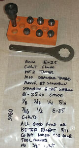 Emco Maximat Fb 2 Super 11 Lathe Schaublin E 25 Chuck Wrench Collets 0805