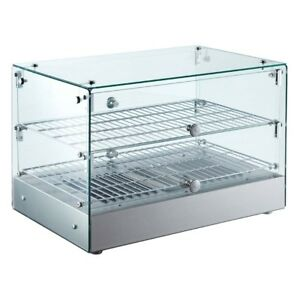 Commercial Countertop Heated Display Case With Straight Glass 22