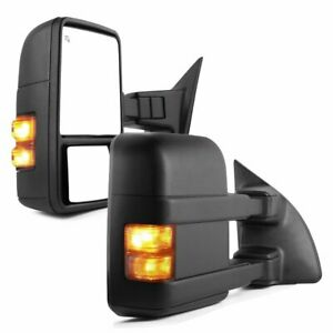 For 99 07 Ford F250 F550 Super Duty Towing Mirrors Pair Power Heated Turn Signal