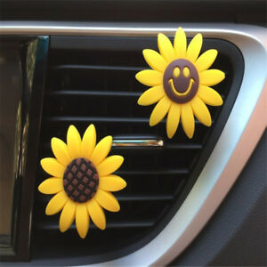 Accessory Sunflower Car Perfume Auto Air Conditioning Air Outlet Perfume Clip Ho