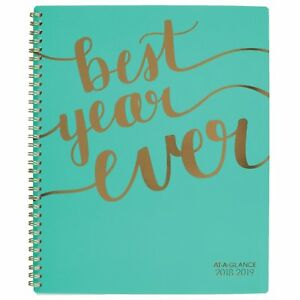 At a glance 2018 2019 Academic Year Weekly Monthly Planner Large 8 1 2 X 11