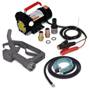 Electric Diesel Gasoline Fuel Transfer Battery Powered Pump Kit 12 Volts 10gpm