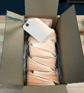 1 000 Manila Shipping Tags 2 1 8 X 4 1 4 Wired