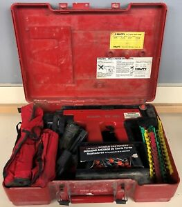 Hilti Dx 451 Powder Actuated Nail Gun W Case Attachments And Accessories