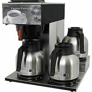Newco Akh 3tc 3 station Stainless Steel Coffee Brewer j1