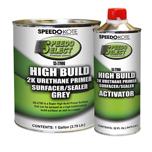 Super Fill High Build 2k Urethane Primer Gray Gallon Kit Ss 2790g Ss 2790a