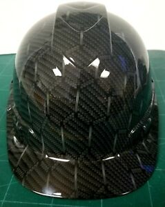 Hard Hat Cap Style Custom Hydro Dipped Hex Weave Carbon Fiber 3d New Sick Killer
