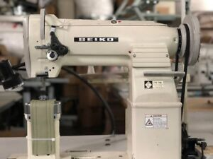 Used Seiko Lpw 28bl Double Needle Post Bed Walking Foot W Clutch Motor Complete