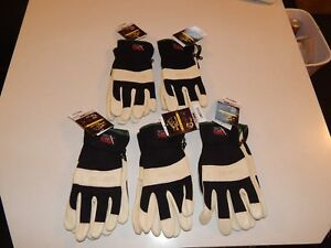 New Lot Of 5 Black Stallion Flex Hand Cowhide Leather Work Gloves Sizes M Or L