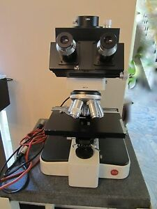 Optical Microscope Leitz Wetzlar Germany Orthoplan 160x Etc Nice Optics lobby