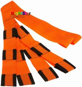 Orange Moving Rope Straps Forearm Forklift Lifting And Moving Furniture 9ft N