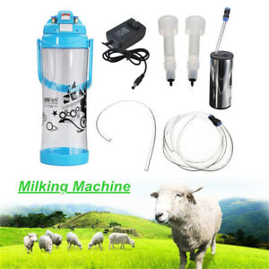 Us 3l Goat Milker Electric Milking Machine Sheep Cow Impulse Type Pump Bucket