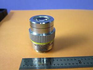 Microscope Leitz Wetzlar Germany Infinity Objective 10x Optics Bin 35 08