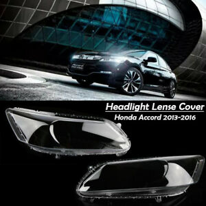 Pair Car Headlight Lens Cover Hardening Pc Lampshade For Honda Accord 2013 2016
