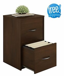 2 Drawer File Cabinet Filing Cherry Wood Document Box Home Office Vertical