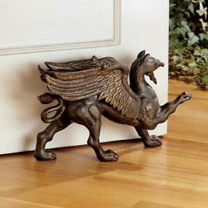 Bronze Finished Foundry Iron Griffin Victorian Antique Bookend Decorstop