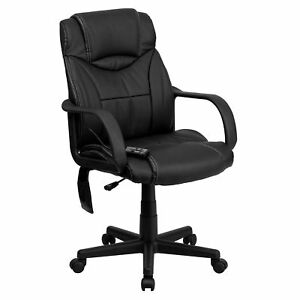 Flash Furniture Black Leather Executive Swivel Office Chair Bt 2690p gg